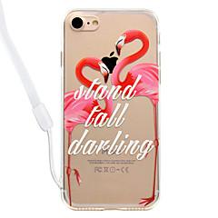 Недорогие Кейсы для iPhone 5-Кейс для Назначение Apple iPhone 8 iPhone 8 Plus Прозрачный С узором Кейс на заднюю панель Фламинго Твердый Акрил для iPhone 8 Pluss