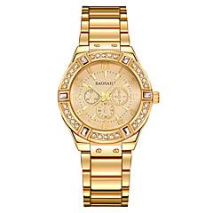 preiswerte Damenuhren-Damen Armband-Uhr / Armbanduhr Chinesisch Wasserdicht / Kreativ / leuchtend Edelstahl Band Charme / Luxus / Freizeit Silber / Gold / Imitation Diamant