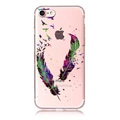 Чехол для iphone 7 7plus 6s 6 6plus 6s plus se 5s 5 чехол для крышки перьев шаблон с высокой прозрачностью tpu материал imd craft chiffon