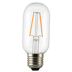 abordables Ampoules LED-1pc 2W 140-200 lm E26/E27 Ampoules à Filament LED P45 2 diodes électroluminescentes COB Décorative Blanc Chaud AC 220-240V