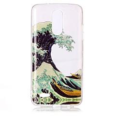 Case for lg k10 (2017) k8 (2017) kotelon suojus aallot kuvio korkea läpäisevyys tpu materiaali imd tekniikka flash powder phone case g6