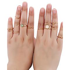 Жен. Кольцо манжета кольцо Базовый дизайн Хип-хоп Rock Multi-Wear способы Панк Золотистый Стразы Металл Бижутерия НазначениеНа каждый