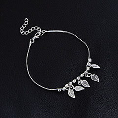 Kadın's Genç Kız Ayak bileziği/Bilezikler alaşım Moda Eski Tip Bohemia Stili Punk Tarzı Elyapımı Gotik Leaf Shape Mücevher Uyumluluk