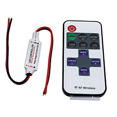 HKV® Wireless Mini Led Controller Dimmer 11key RF Remote Control For Single Color Led Strip Lights DC 5-24V