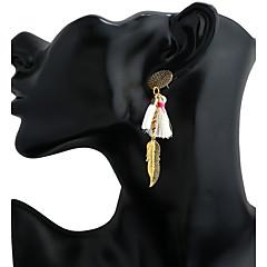 preiswerte Ohrringe-Damen Ohrstecker / Tropfen-Ohrringe / Kreolen - Harz Anhänger Stil, Quaste Weiß / Schwarz / Rot Für Geschäft / Bühne / Ausgehen