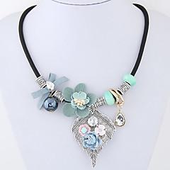 preiswerte Halsketten-Damen Statement Ketten - Blume, Schleife Modisch, Euramerican Rosa, Leicht Grün Modische Halsketten Schmuck Für Party