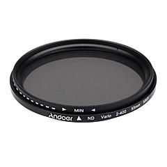 Andoer 55mm nd fader neutrale dichtheid instelbaar nd2 naar nd400 variabel filter voor Canon Nikon DSLR camera