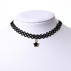 preiswerte Halsketten-Damen Einzelkette Stern Grundlegend Anhängerketten Schmuck Spitze Anhängerketten . Weihnachts Geschenke Hochzeit Party Besondere Anlässe