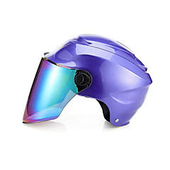 abordables Cascos para Moto-Medio Casco Moldeado al Cuerpo Compacto Respirante Media concha Mejor calidad Deportes Los cascos de motocicleta