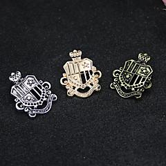 halpa Rintakorut-Miesten Naisten Rintaneulat Logo Vintage Muoti Euramerican Metalliseos Korut Käyttötarkoitus Arkikäyttö Kausaliteetti Rento/arki