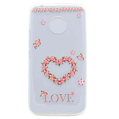 For Motorola G5 G5 Plus Case Cover Translucent Pattern Back Cover Case Heart Soft TPU Case
