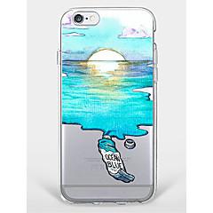 Недорогие Кейсы для iPhone-Кейс для Назначение Apple iPhone 7 Plus iPhone 7 С узором Кейс на заднюю панель Пейзаж Мягкий ТПУ для iPhone 7 Plus iPhone 7 iPhone 6s