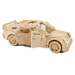 ieftine -Jucării pentru mașini Puzzle 3D Puzzle Modele de Lemn Aeronavă Mașină 3D Reparații Lemn Clasic Băieți Unisex Cadou