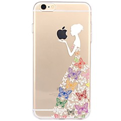 For iPhone X iPhone 8 Case Cover Transparent Pattern Back Cover Case Playing with Apple Logo Sexy Lady Soft TPU for Apple iPhone X iPhone