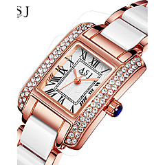 cheap Women's Watches-ASJ Women's Wrist Watch Japanese Water Resistant / Water Proof / Creative Alloy / Ceramic Band Sparkle Silver / Rose Gold