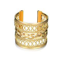 preiswerte Armbänder-Damen Hohl Manschetten-Armbänder Breites Armband - Punk, Modisch Armbänder Gold Für Weihnachts Geschenke Geburtstag Geschenk