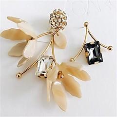 preiswerte Ohrringe-Damen Nicht übereinstimmend Ohrstecker - Blume Personalisiert, überdimensional Gold Für Party / Bühne / Strand