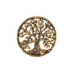 halpa Rintakorut-Miesten Naisten Rintaneulat Korut Muoti Personoitu Ruostumaton teräs Elämän puu Korut Käyttötarkoitus