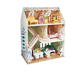 Poppen 3D-puzzels Legpuzzel Poppenhuis Bouwplaat Speeltjes Beroemd gebouw Architectuur 3D DHZ Unisex Stuks