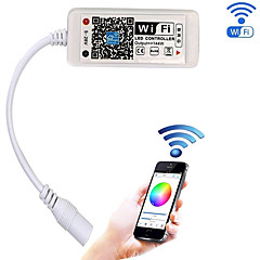 お買い得  LED部品-更新されたwifi無線ledコントローラfor rgb ledストリップlightswork withアンドロイド/ ios携帯電話160000色20ダイナミックモードサポートサウンド