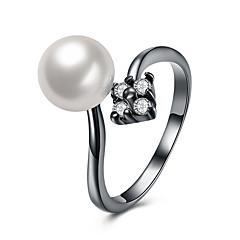 preiswerte Ringe-Damen Perle Kubikzirkonia Stulpring - Perle, Aleación Luxus, Quaste, Böhmische Verstellbar Weiß Für Hochzeit Party Neues Baby