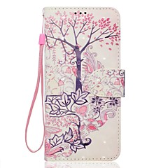 Недорогие Чехлы и кейсы для Sony-Кейс для Назначение Sony Xperia XA Ультра Sony Sony Xperia XA Бумажник для карт Кошелек со стендом Чехол дерево Животное Мягкий Кожа PU