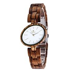Dames Horloge Hout Japans Kwarts houten Hout Band Bedeltjes Luxueus Elegante horloges Bruin