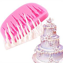 1 Kappale kakku Muotit 3D Päivittäiskäyttöön Uusivuosi DIY Leivonta Tool 3D Creative Kitchen Gadget Christmas Häät Syntymäpäivä