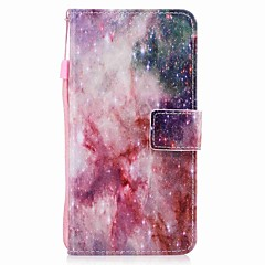 Недорогие Кейсы для iPhone-Кейс для Назначение Apple iPhone 7 Plus iPhone 7 Бумажник для карт Кошелек Флип Магнитный С узором Чехол Цвет неба Твердый Кожа PU для