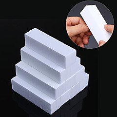10 Pcs White Nail File Buffers Set Sanding Grinding Sponge Form Polishing Block Pedicure Manicure Nail Art Tool