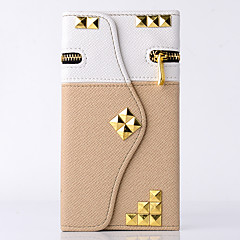 Чехол для samsung примечание 5/4 крышка держатель карты кошелек с подставкой флип полный корпус корпус сплошной цвет геометрический узор