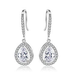 preiswerte Ohrringe-Damen Kubikzirkonia Tropfen-Ohrringe - Zirkon Tropfen damas Modisch Bling Bling Schmuck Silber / Rotgold Für Hochzeit