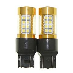 Недорогие Фары для мотоциклов-Sencart 2шт 7443 w21 21w w3x16q мигающая лампочка светодиодный фонарик автомобиля поворота заднего фонаря (белый / красный / синий /