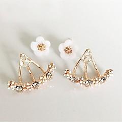 voordelige Oorbellen-Dames Oorknopjes Voor achter gestileerde oorbellen Kristal metallinen Gepersonaliseerde Bloemen Bloemenstijl Standaard Hart Natuur