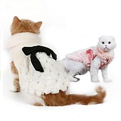 قط كلب كنزة ملابس الكلاب حفلة الدفء رأس السنة صلب أبيض زهري كوستيوم للحيوانات الأليفة