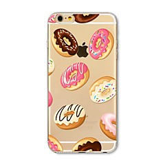 voordelige iPhone 6s hoesjes-hoesje Voor Apple iPhone X iPhone 8 Plus Transparant Patroon Achterkantje Tegel Voedsel Zacht TPU voor iPhone X iPhone 7s Plus iPhone 8
