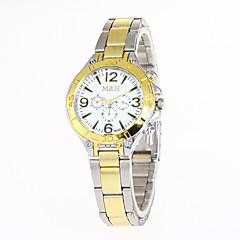 preiswerte Damenuhren-Damen Sportuhr Militäruhr Armbanduhr Quartz Silber / Gold Kreativ Armbanduhren für den Alltag Cool Analog damas Charme Luxus Retro Freizeit - Gold Weiß Schwarz