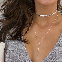 Damskie Geometric Shape Spersonalizowane Frędze Modny euroamerykańskiej Naszyjniki choker Y-Naszyjniki Biżuteria Miedź Stop Naszyjniki