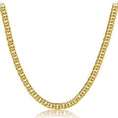 Férfi Női Rövid nyakláncok Ékszerek Geometric Shape Arannyal bevont Természet Gótikus luxus ékszer karácsonyi Klasszikus Ékszerek