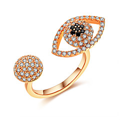 Men's Women's Cubic Zirconia Fashion Punk Adjustable Open Zircon Silver Plated Jewelry For Gift Daily Formal Street
