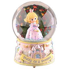 رخيصةأون -كرات الصندوق الموسيقي ألعاب دائري كريستال 1 قطع للأطفال أنثى عيد ميلاد عيد الحب هدية
