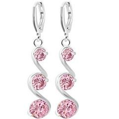 preiswerte Ohrringe-Damen Tropfen-Ohrringe - Welle Modisch, überdimensional Silber / Purpur / Rosa Für Hochzeit / Party / Formal