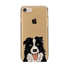 Недорогие Кейсы для iPhone 6 Plus-Кейс для Назначение Apple iPhone 7 / iPhone 7 Plus Прозрачный / С узором Кейс на заднюю панель С собакой Мягкий ТПУ для iPhone 7 Plus / iPhone 7 / iPhone 6s Plus
