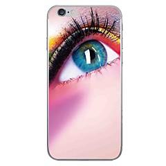 Случай для яблока iphone 7 7 плюс крышка глаза картина глаза hd покрасили более толстый материал tpu мягкий случай случая телефона для