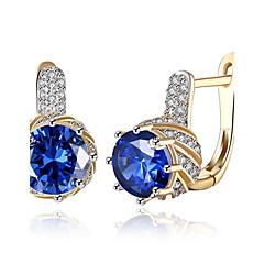 Dame Store øreringe Klipøreringe Syntetisk Diamant Kvadratisk Zirconium Enkelt design minimalistisk stil Klassisk Mode Vintage Boheme