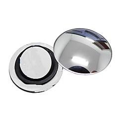 abordables Piezas para el Coche-ziqiao PC 1 espejo retrovisor coche pequeño espejo redondo de gran angular superficie convexa visual ajustable con base giratoria