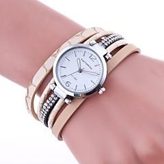 お買い得  大特価腕時計-女性用 ブレスレットウォッチ 中国 模造ダイヤモンド PU バンド チャーム / カジュアル / ファッション ブラック / レッド / ブラウン / 1年間 / TY 377A