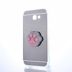 Χαμηλού Κόστους Galaxy A7 Θήκες / Καλύμματα-tok Για Samsung Galaxy A5(2017) A3(2017) Καθρέφτης Φτιάξτο Μόνος Σου Squishy Πίσω Κάλυμμα Γάτα Συμπαγές Χρώμα Κινούμενα σχέδια 3D Σκληρή