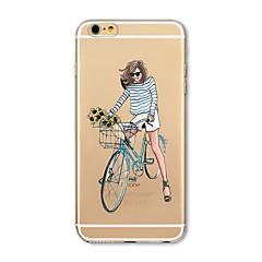 Недорогие Кейсы для iPhone 5-Кейс для Назначение Apple iPhone X / iPhone 8 Plus Прозрачный / С узором Кейс на заднюю панель Соблазнительная девушка Мягкий ТПУ для iPhone X / iPhone 8 Pluss / iPhone 8