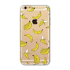 Недорогие Кейсы для iPhone 6-Кейс для Назначение Apple iPhone X iPhone 8 Plus Прозрачный С узором Кейс на заднюю панель Плитка Фрукты Мягкий ТПУ для iPhone X iPhone 8